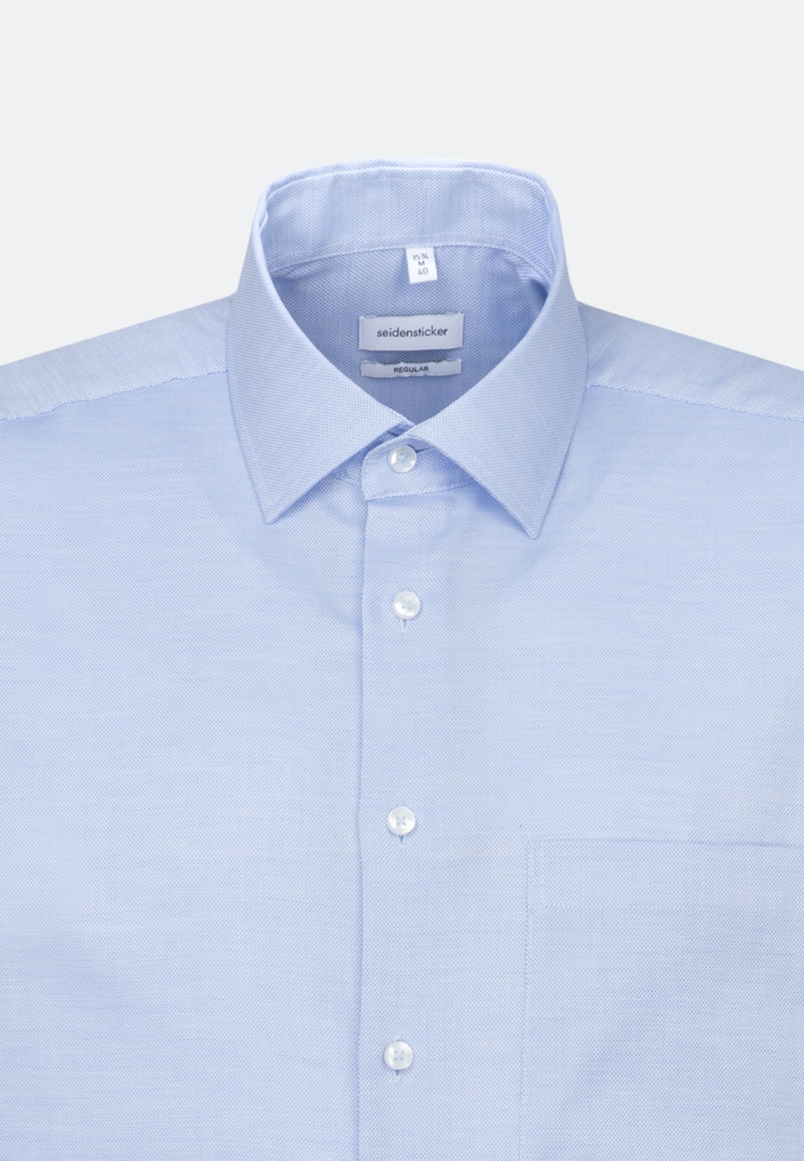 Non-iron Struktur Short sleeve Business Shirt in Regular with Kent-Collar in Light blue |  Seidensticker Onlineshop