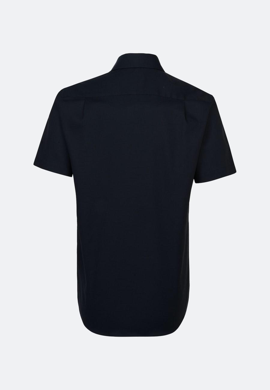 Non-iron Struktur Short sleeve Business Shirt in Regular with Kent-Collar in Dark blue    Seidensticker Onlineshop