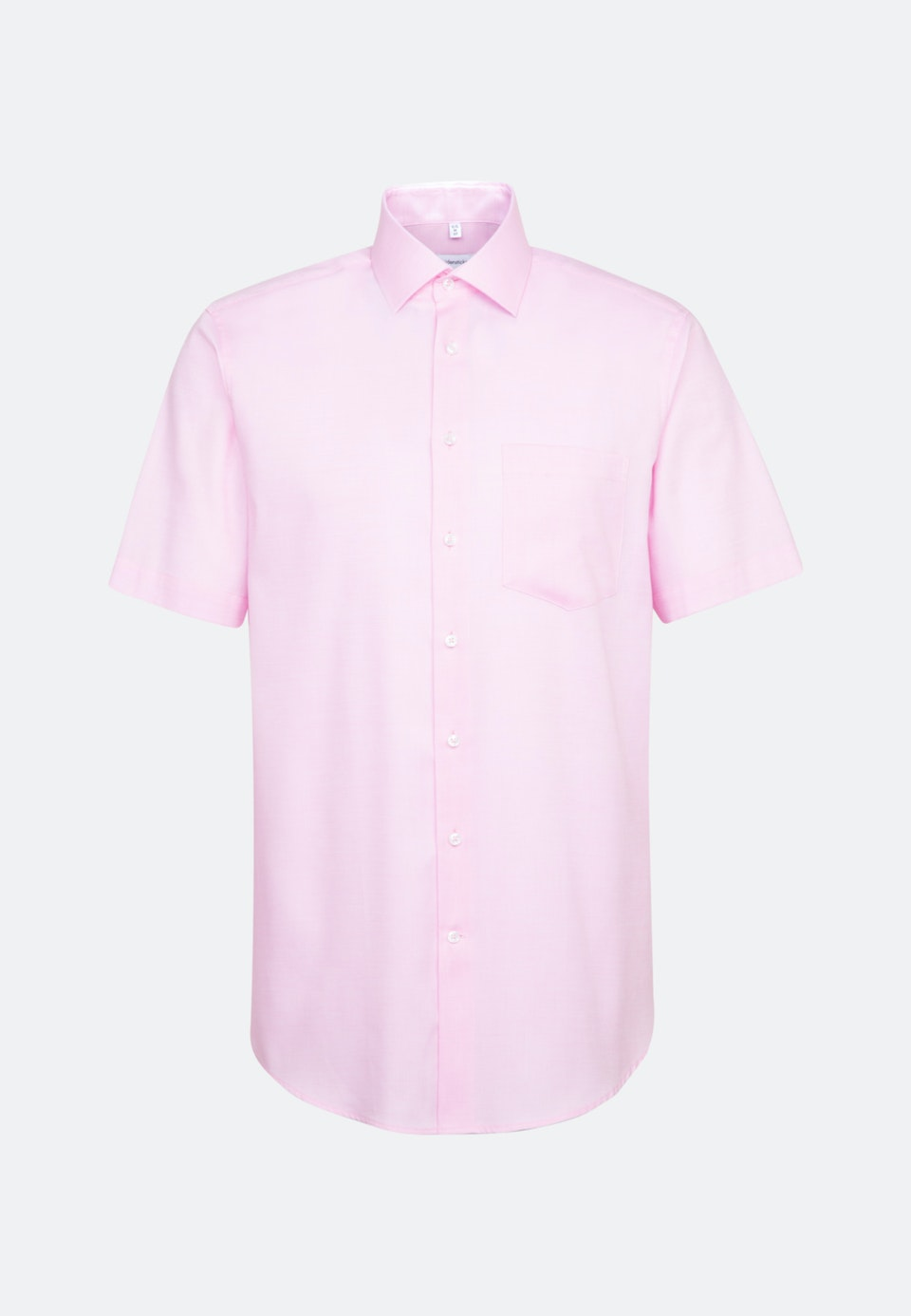 Bügelfreies Struktur Kurzarm Business Hemd in Regular mit Kentkragen in Rosa/Pink |  Seidensticker Onlineshop