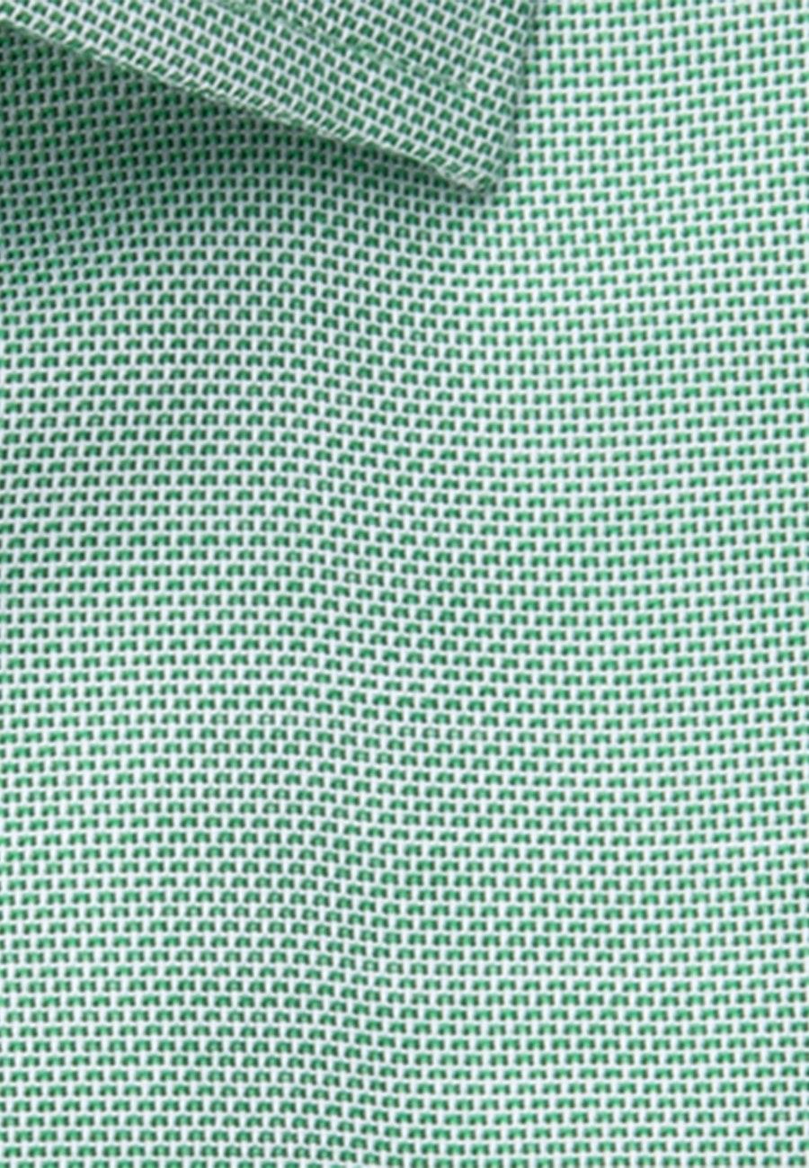 Non-iron Struktur Short sleeve Business Shirt in Regular with Kent-Collar in Green |  Seidensticker Onlineshop