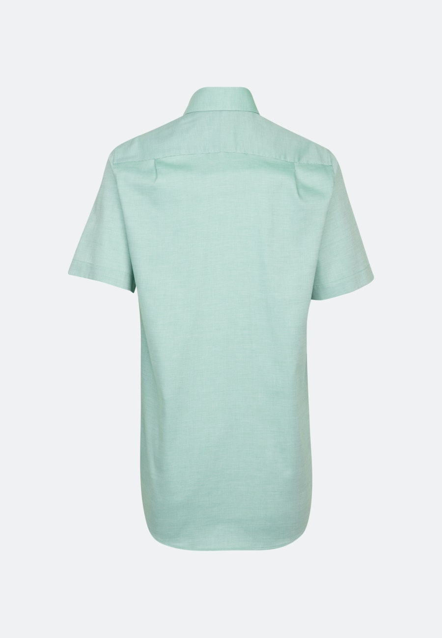 Non-iron Structure Short sleeve Business Shirt in Regular with Kent-Collar in Green |  Seidensticker Onlineshop