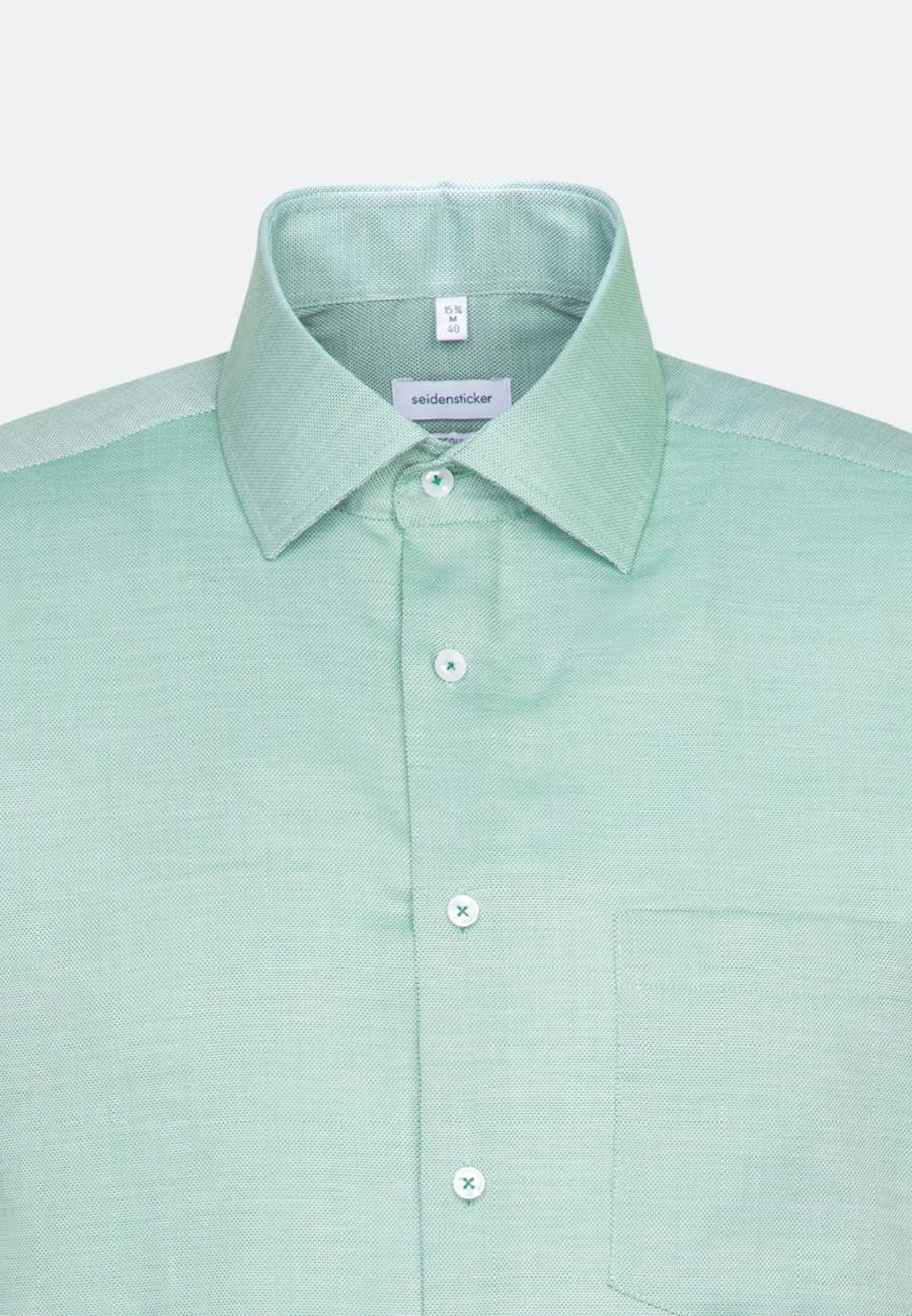 Bügelfreies Struktur Kurzarm Business Hemd in Regular mit Kentkragen in Grün |  Seidensticker Onlineshop