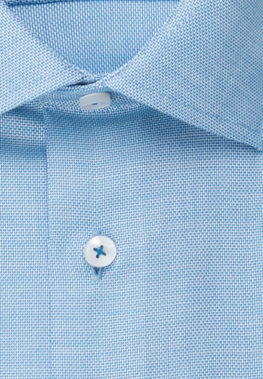 Bügelfreies Struktur Kurzarm Business Hemd in Regular mit Kentkragen in Türkis/Petrol |  Seidensticker Onlineshop