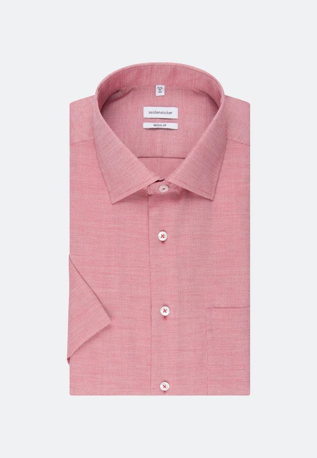 Non-iron Structure Short sleeve Business Shirt in Regular with Kent-Collar in Red |  Seidensticker Onlineshop