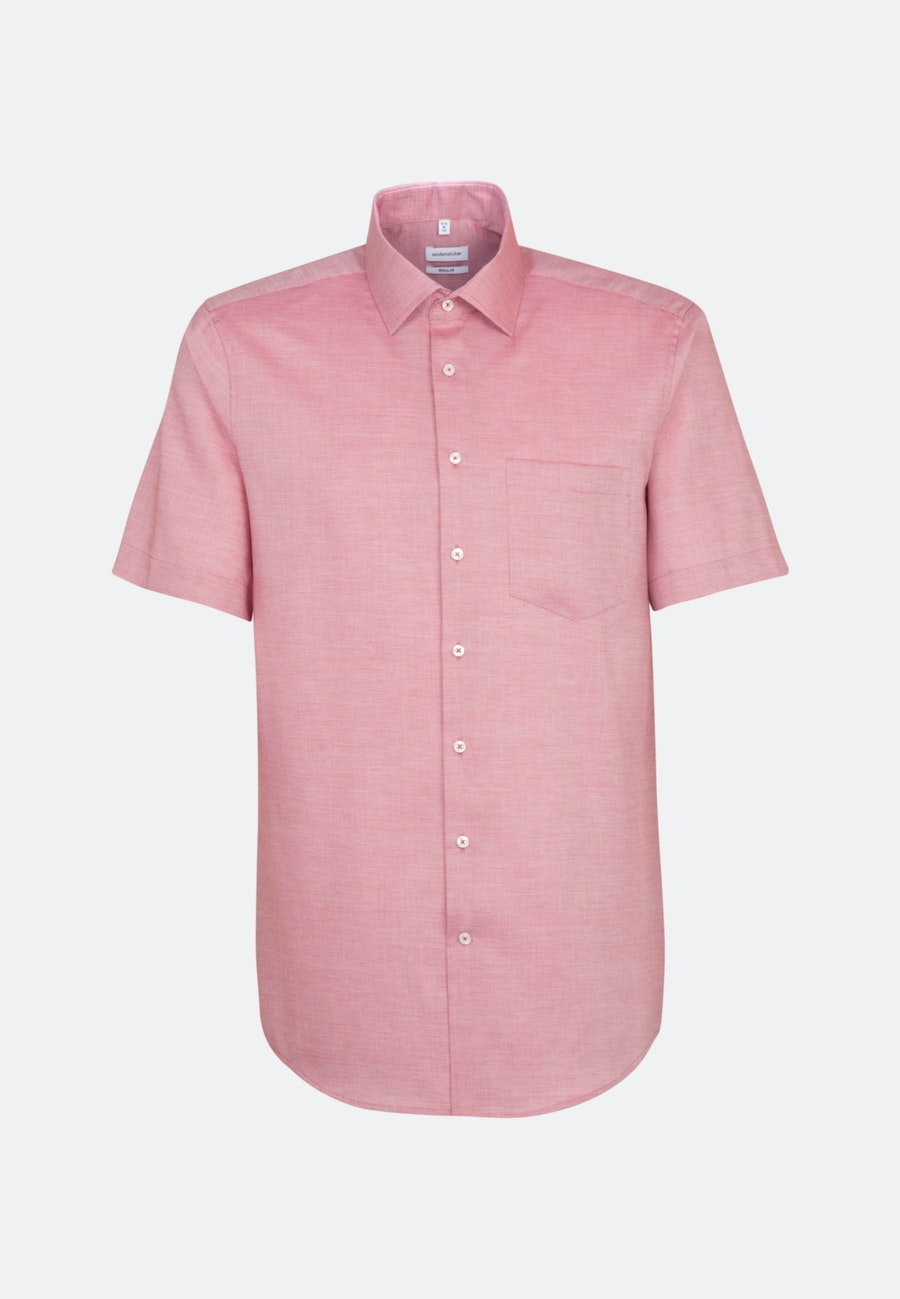 Non-iron Structure Short sleeve Business Shirt in Regular with Kent-Collar in Red |  Seidensticker Onlineshop