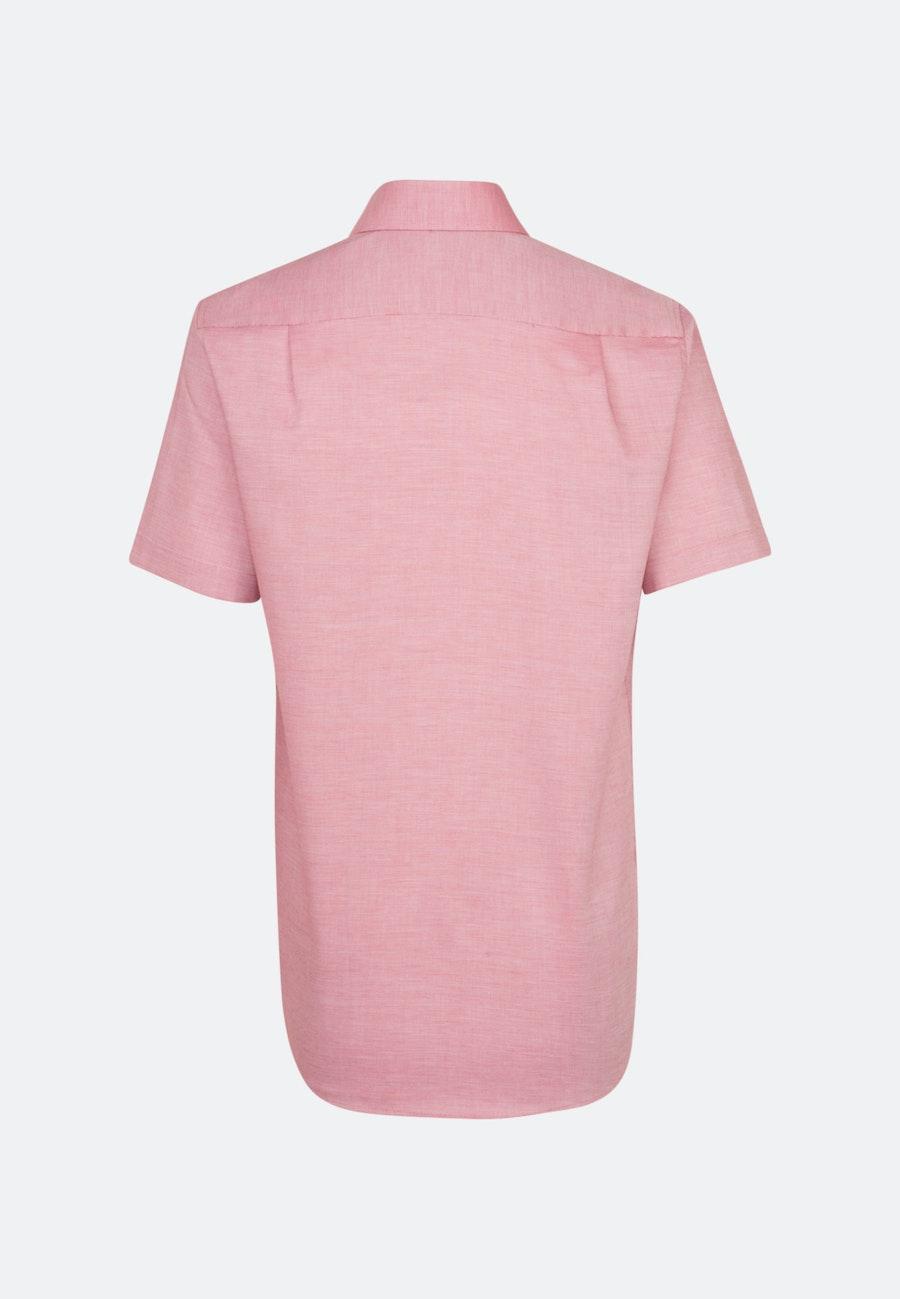 Bügelfreies Struktur Kurzarm Business Hemd in Regular mit Kentkragen in Rot |  Seidensticker Onlineshop