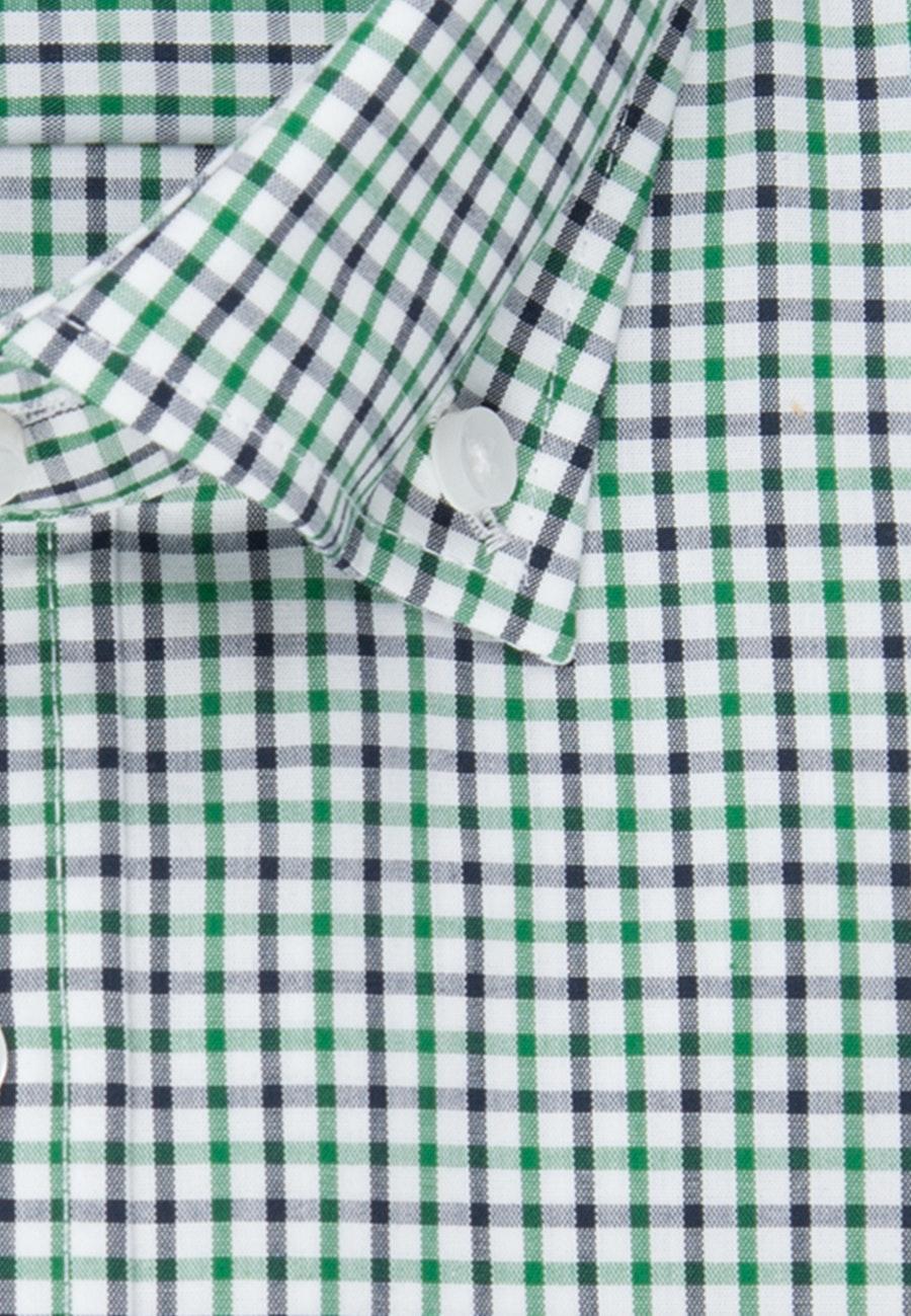 Non-iron Popeline Short sleeve Business Shirt in Regular with Button-Down-Collar in Green |  Seidensticker Onlineshop