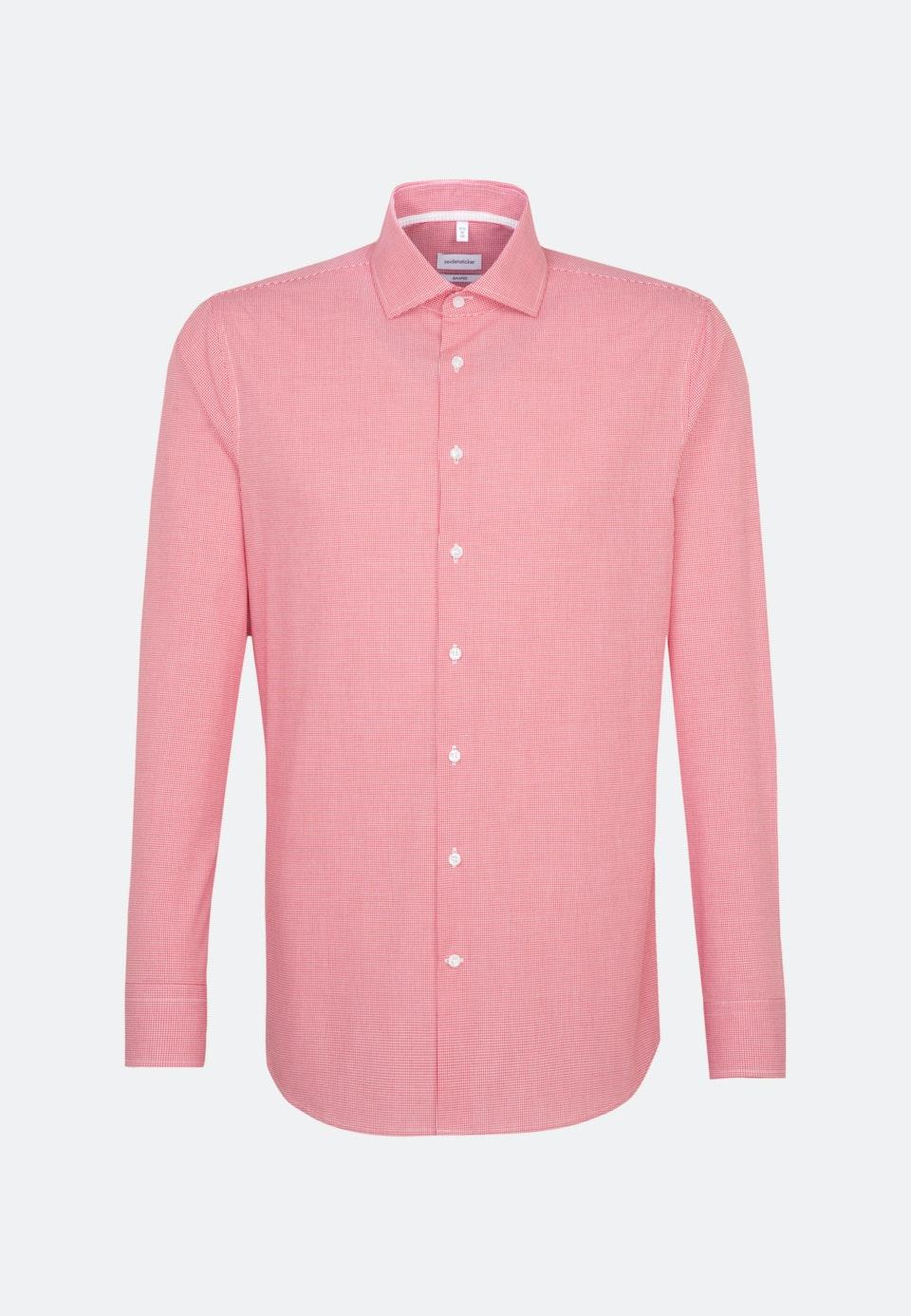 Bügelfreies Popeline Business Hemd in Shaped mit Kentkragen und extra langem Arm in Rot |  Seidensticker Onlineshop