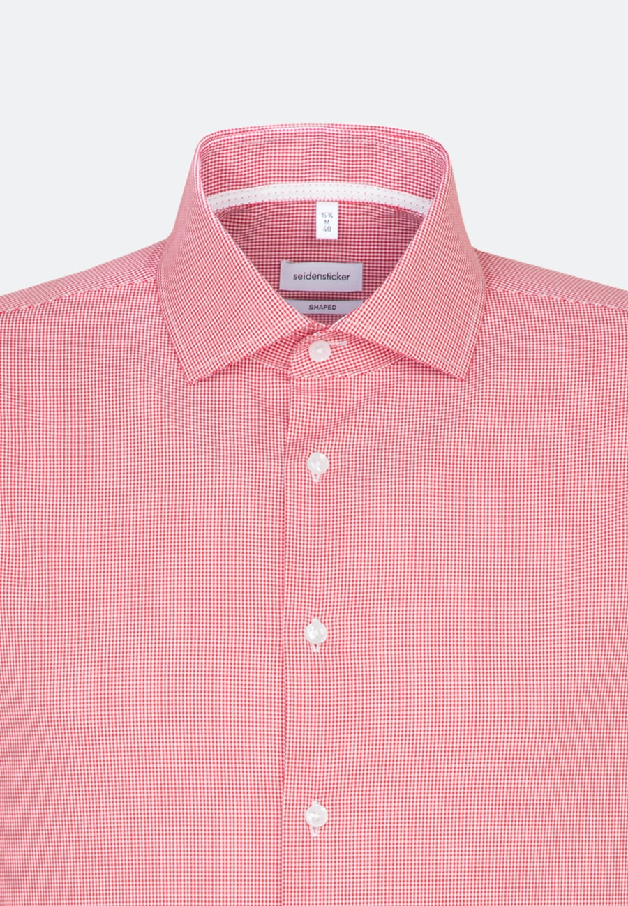 Non-iron Popeline Business Shirt in Shaped with Kent-Collar and extra long sleeve in Red |  Seidensticker Onlineshop