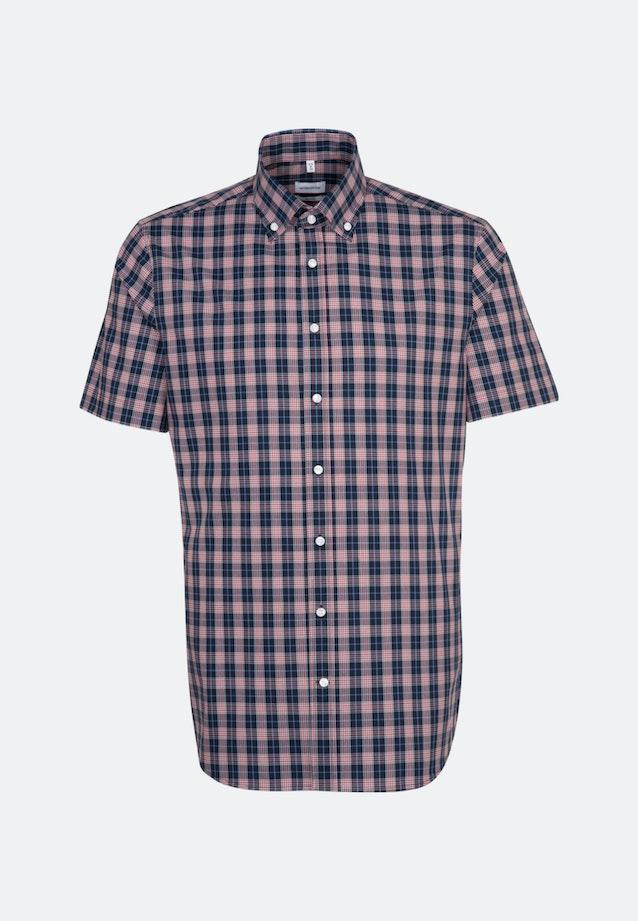 Bügelfreies Popeline Kurzarm Business Hemd in Shaped mit Button-Down-Kragen in Rot    Seidensticker Onlineshop