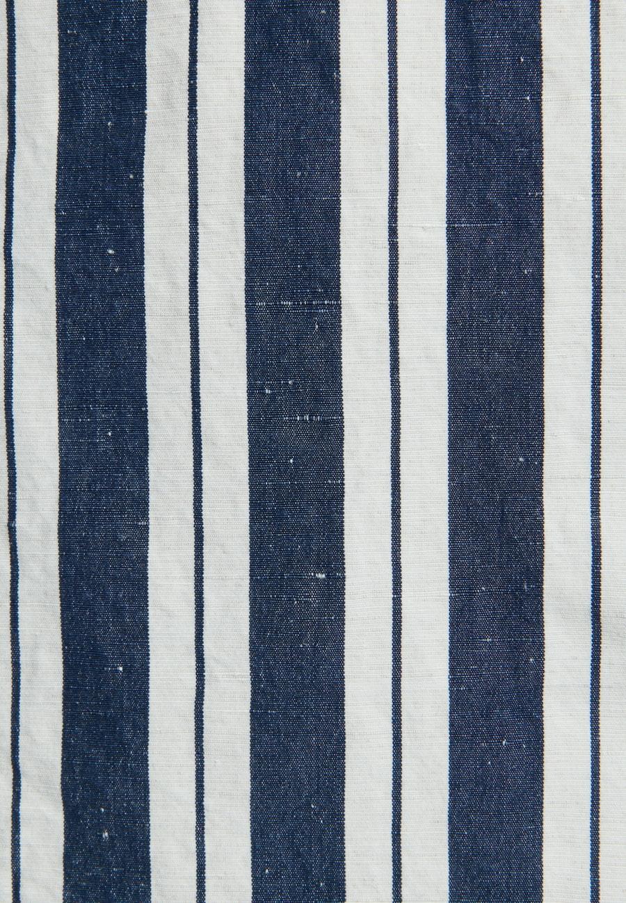 Short sleeve Plain weave Shirt Blouse made of silk-linen blend in Dark blue    Seidensticker Onlineshop