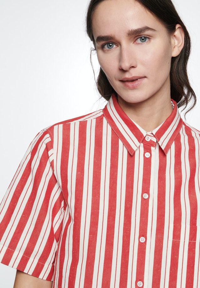 Kurzarm Hemdbluse aus Seiden-Leinenmischung in Rot |  Seidensticker Onlineshop