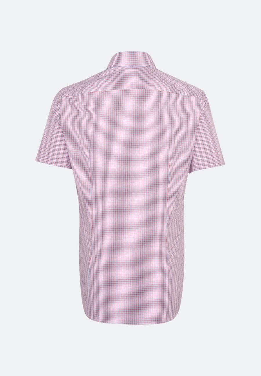 Bügelfreies Popeline Kurzarm Business Hemd in Shaped mit Kentkragen in Rot    Seidensticker Onlineshop