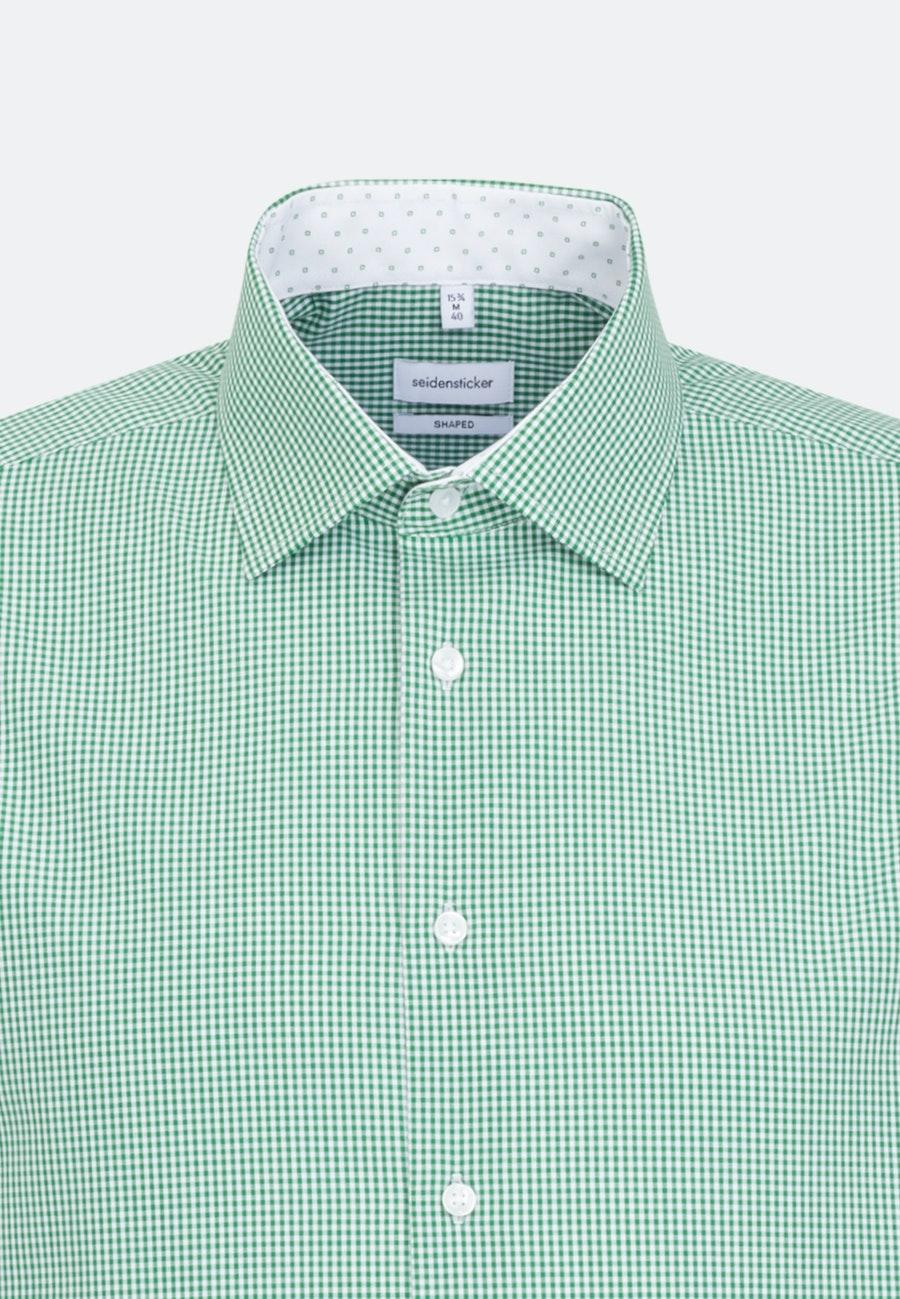Bügelfreies Popeline Business Hemd in Shaped mit Kentkragen in Grün    Seidensticker Onlineshop