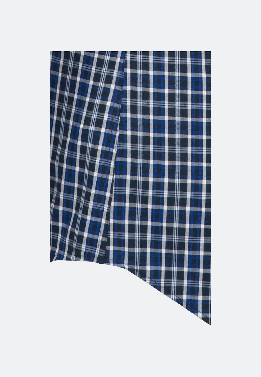 Bügelfreies Popeline Kurzarm Business Hemd in Shaped mit Button-Down-Kragen in Mittelblau |  Seidensticker Onlineshop