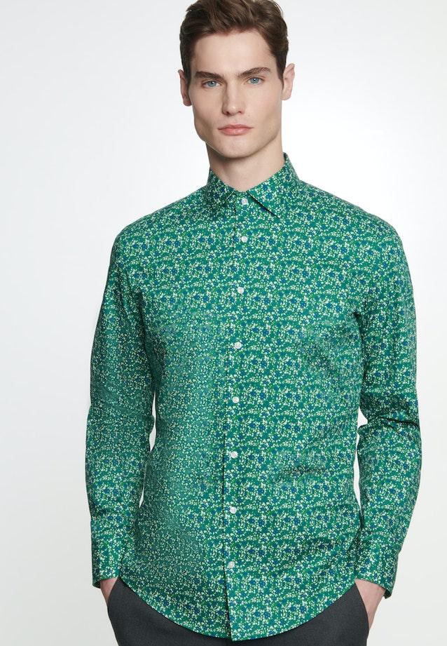 Easy-iron Popeline Business Shirt in Slim with Kent-Collar in Green    Seidensticker Onlineshop