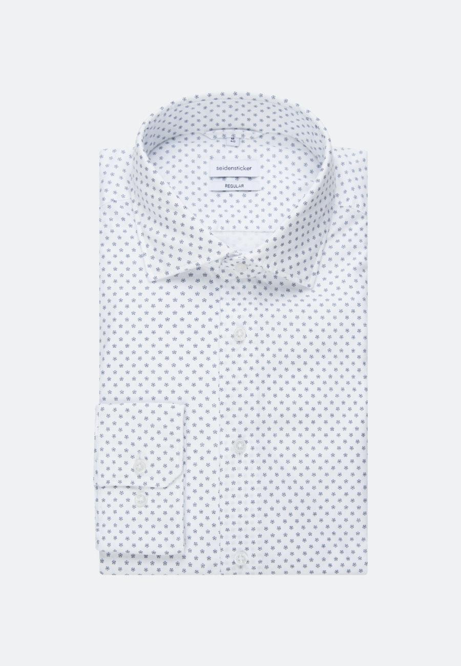 Bügelleichtes Oxford Business Hemd in Regular mit Kentkragen in Weiß    Seidensticker Onlineshop