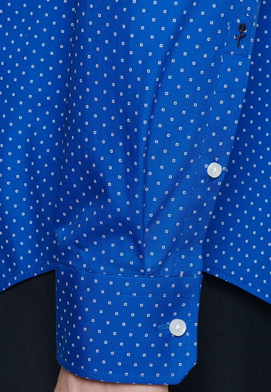 Easy-iron Popeline Business Shirt in Shaped with Kent-Collar in Medium blue |  Seidensticker Onlineshop