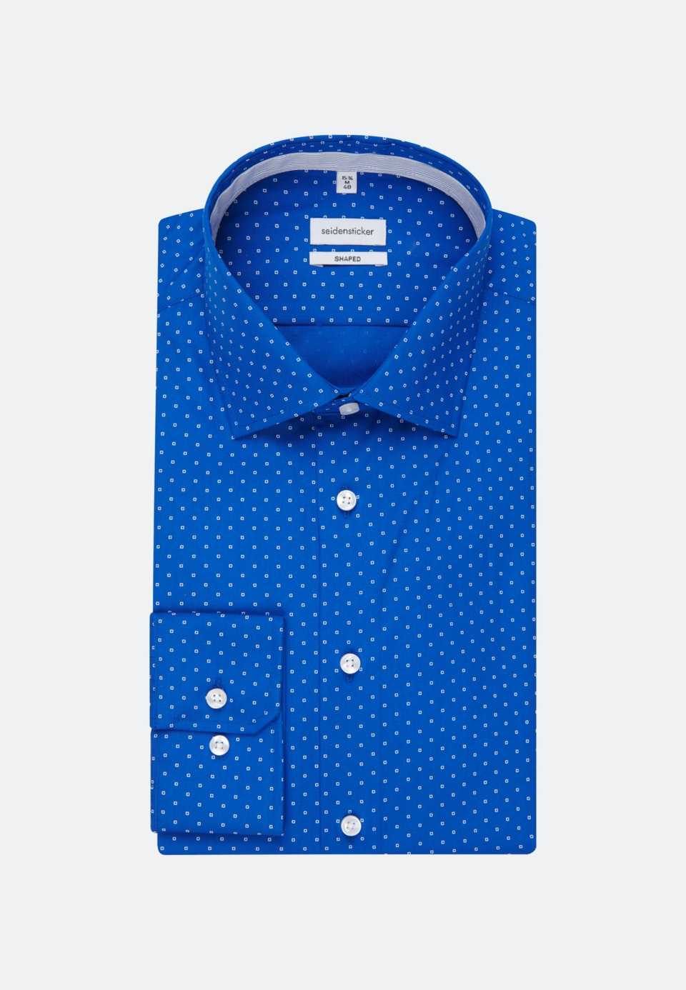 Easy-iron Poplin Business Shirt in Shaped with Kent-Collar in Medium blue |  Seidensticker Onlineshop