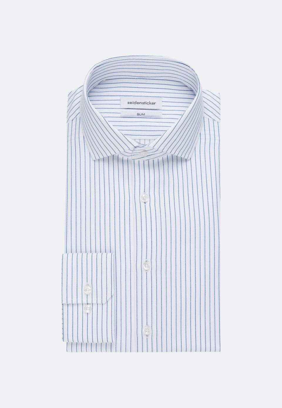 Easy-iron Cotele Business Shirt in Slim with Kent-Collar in White |  Seidensticker Onlineshop