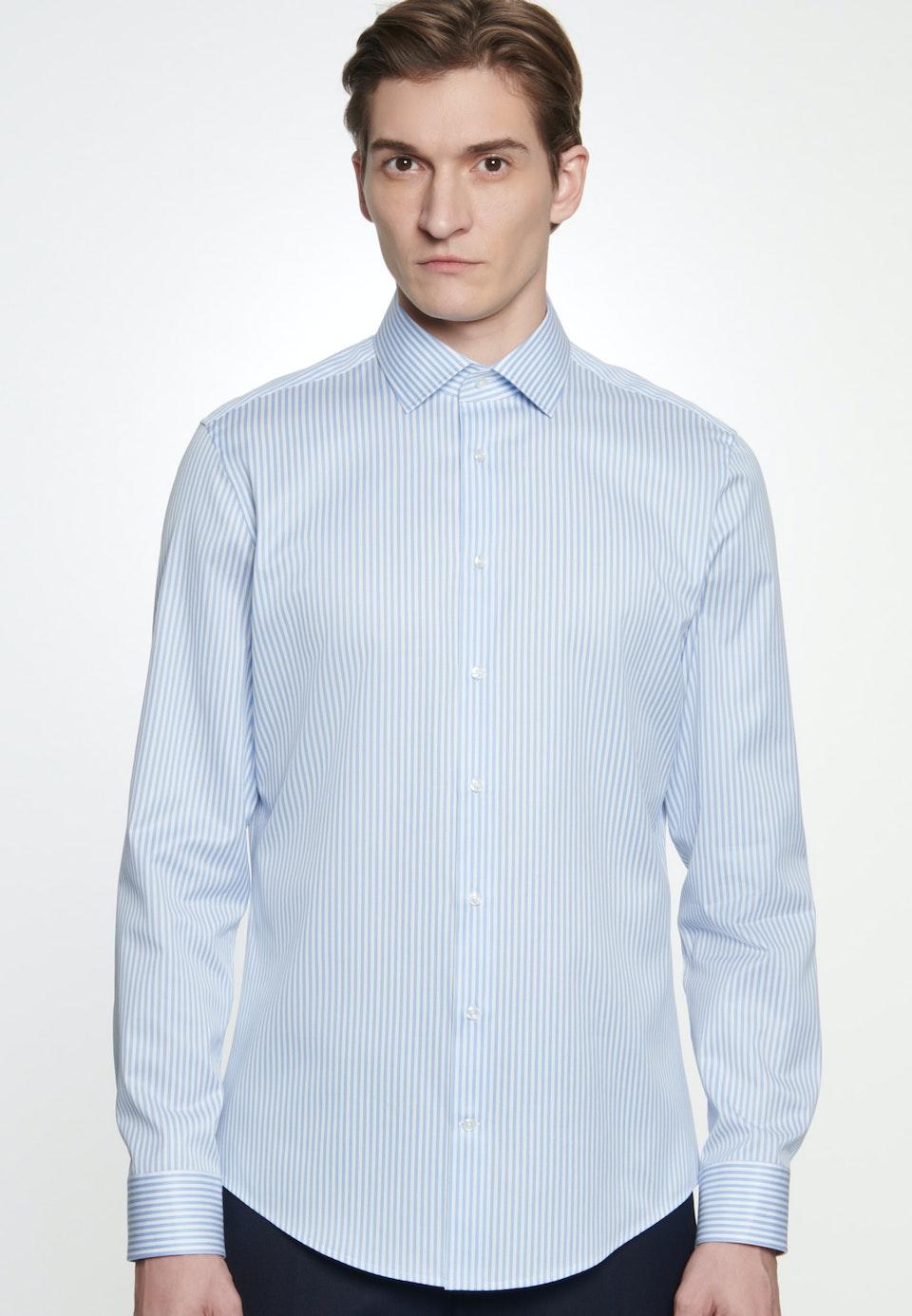 Bügelleichtes Piqué Business Hemd in Shaped mit Kentkragen in Hellblau    Seidensticker Onlineshop