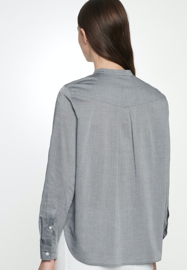 Chambray Stand-Up Blouse made of 100% Cotton in Grey |  Seidensticker Onlineshop
