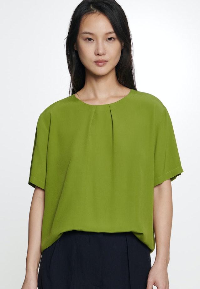 Short sleeve Poplin Shirt Blouse made of 100% Viscose in Green |  Seidensticker Onlineshop