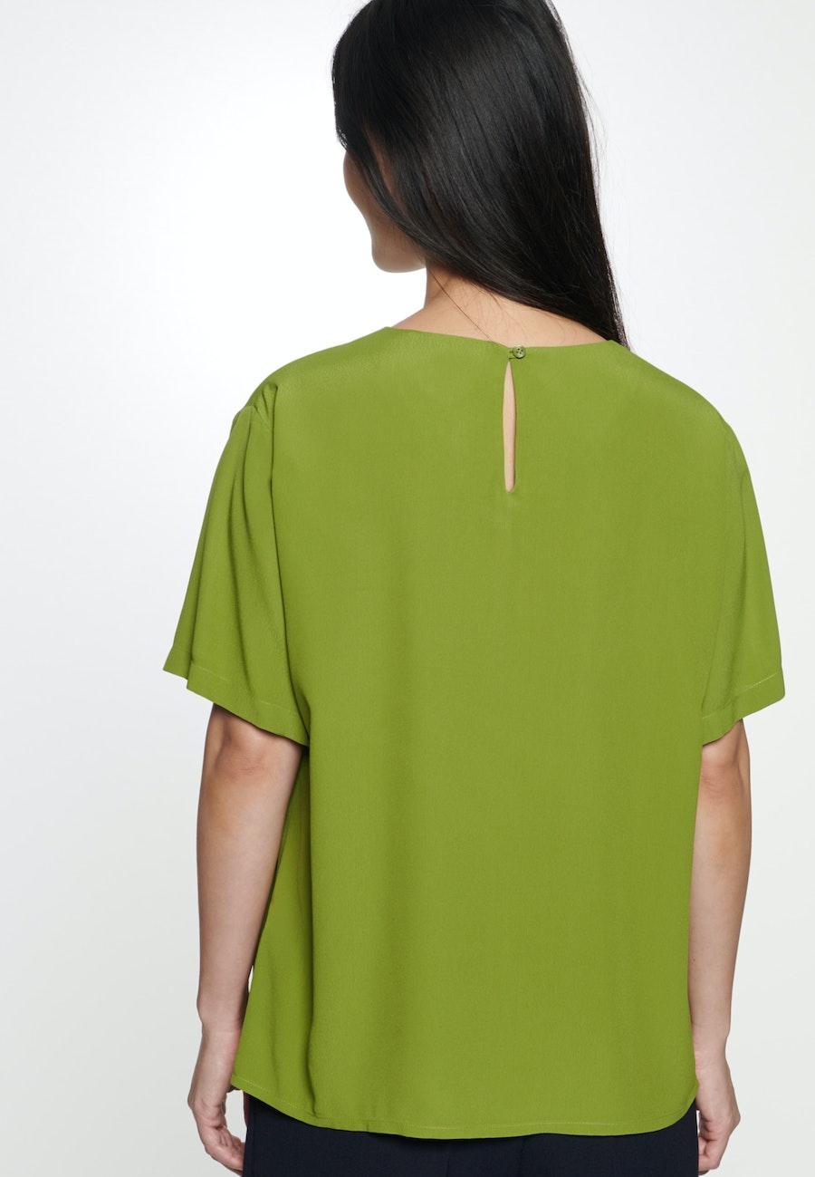 Kurzarm Popeline Shirtbluse aus 100% Viskose in Grün    Seidensticker Onlineshop