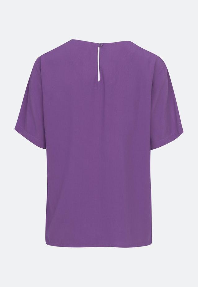 Kurzarm Popeline Shirtbluse aus 100% Viskose in Lila    Seidensticker Onlineshop