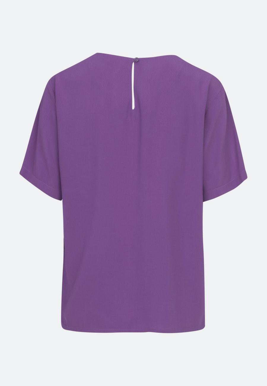 Short sleeve Poplin Shirt Blouse made of 100% Viscose in Purple |  Seidensticker Onlineshop