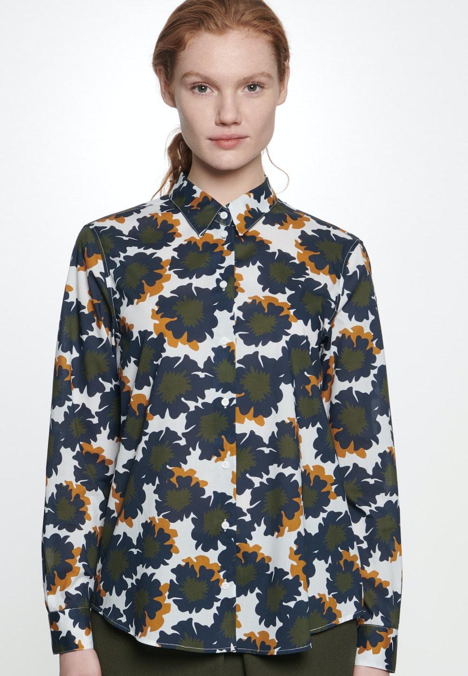 Voile Shirt Blouse made of 100% Cotton in Dark blue    Seidensticker Onlineshop