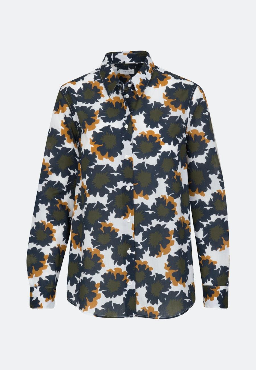 Voile Hemdbluse aus 100% Baumwolle in Dunkelblau |  Seidensticker Onlineshop