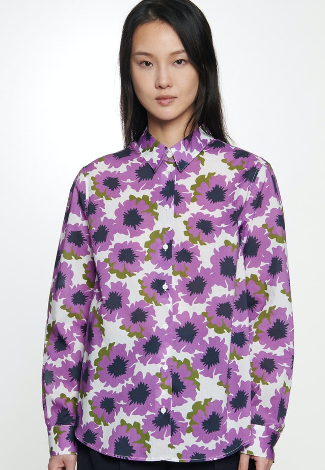 Voile Hemdbluse aus 100% Baumwolle in Lila    Seidensticker Onlineshop