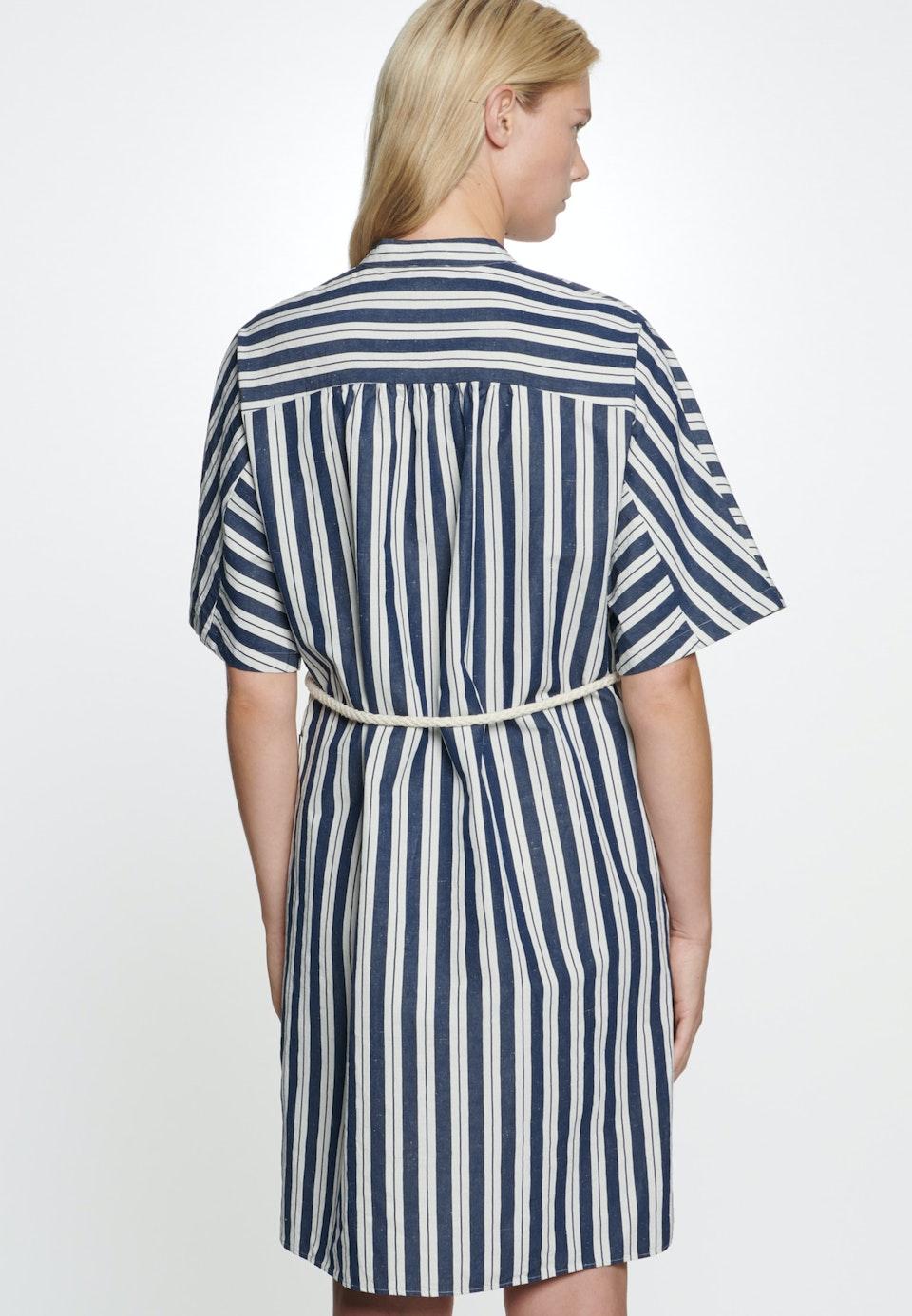 Midi Kleid aus Seiden-Leinenmischung in Dunkelblau    Seidensticker Onlineshop