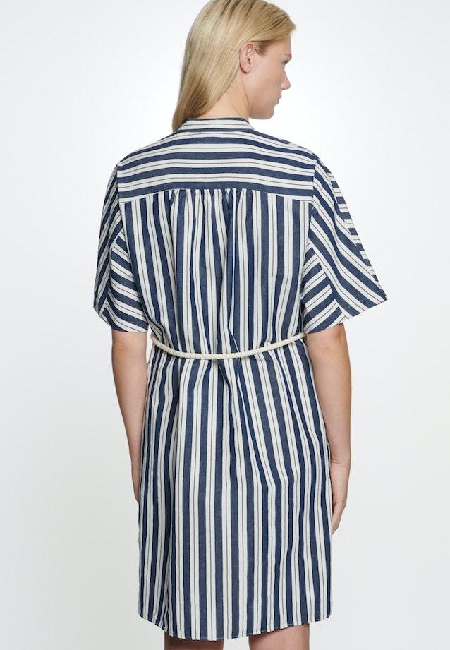 Plain weave Midi Dress made of silk-linen blend in Dark blue |  Seidensticker Onlineshop