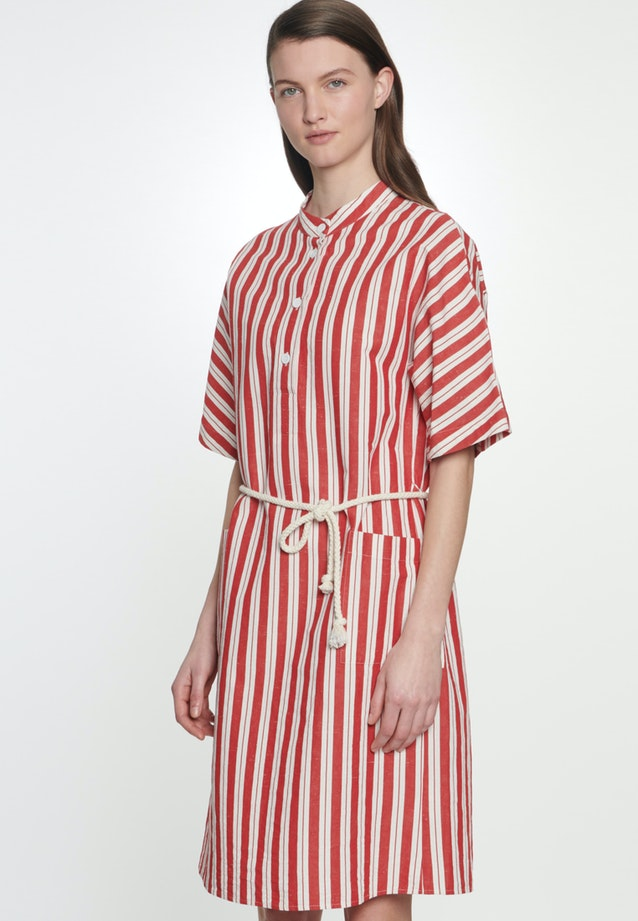Midi Dress made of silk-linen blend in Red |  Seidensticker Onlineshop