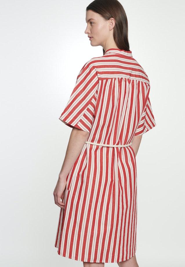 Plain weave Midi Dress made of silk-linen blend in Red |  Seidensticker Onlineshop