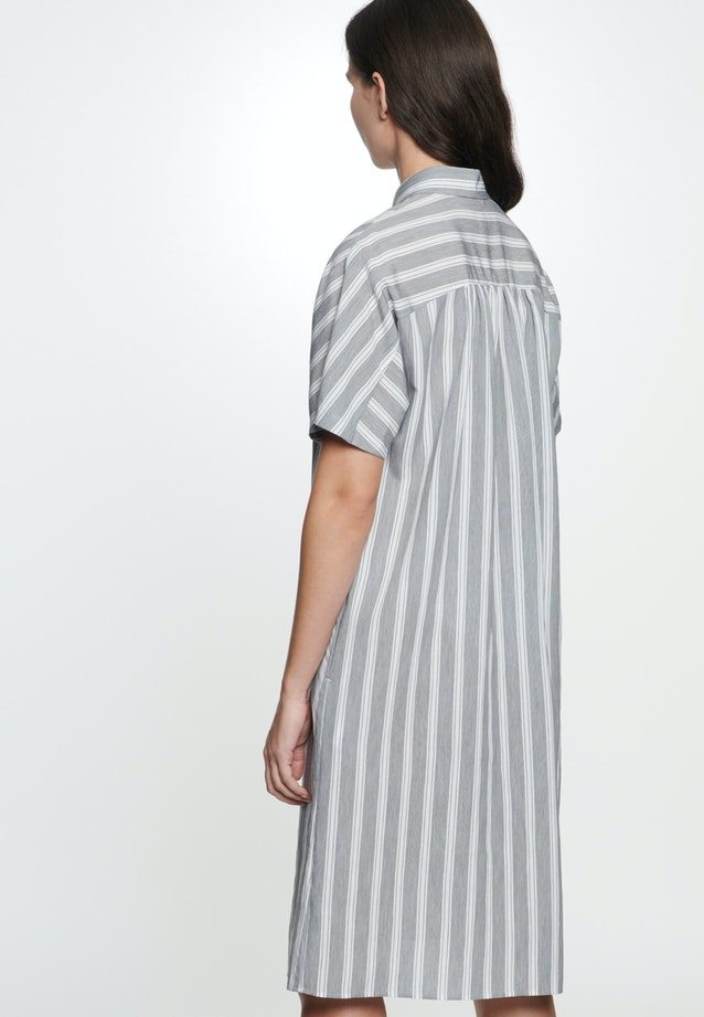 Poplin Midi Dress made of viscose blend in Grey |  Seidensticker Onlineshop