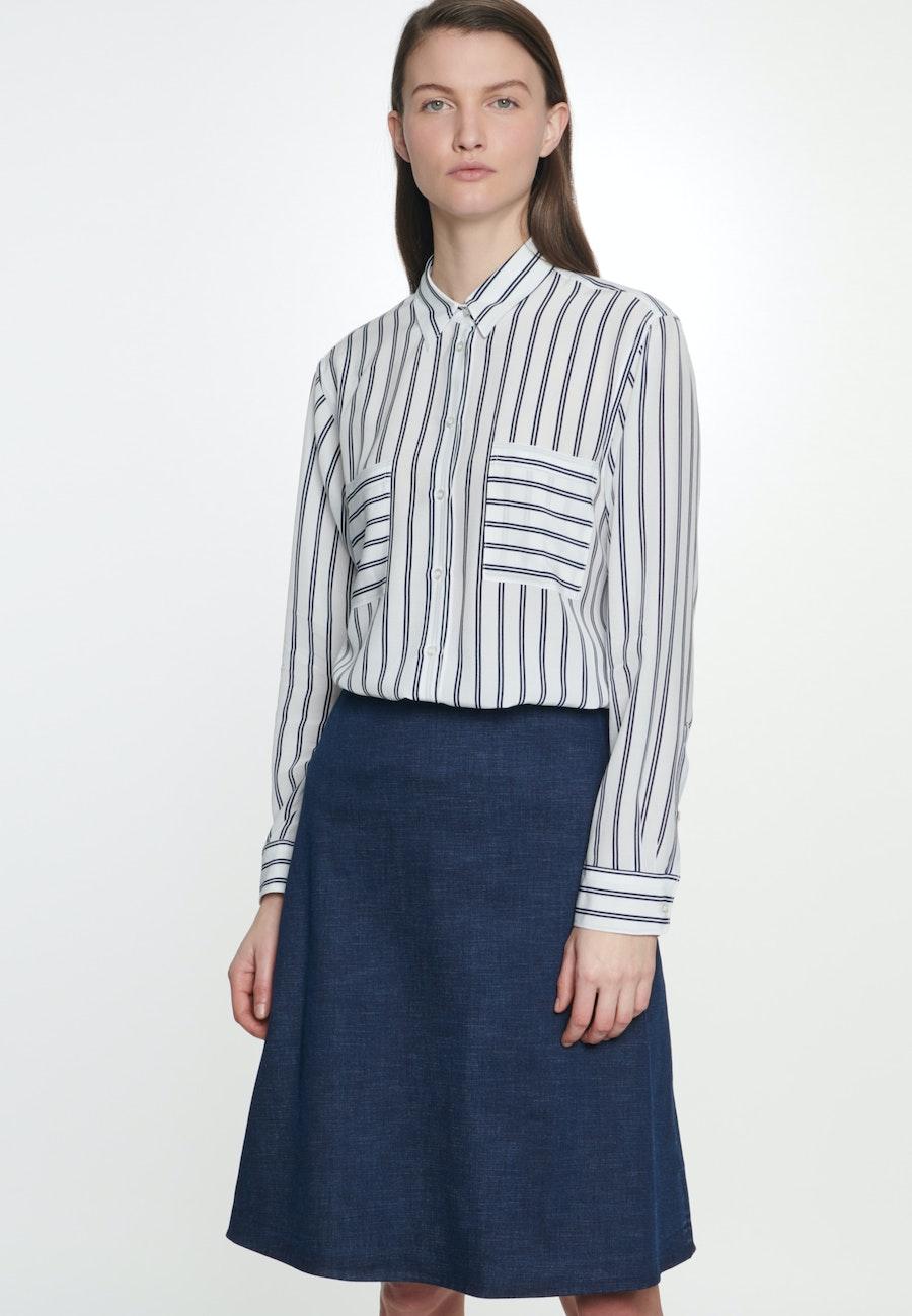 Denim Midi Skirt made of cotton blend in Dark blue |  Seidensticker Onlineshop