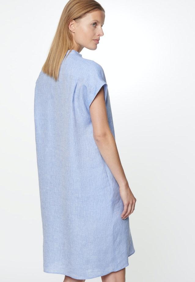 Sleeveless Leinen Midi Dress made of 100% Linen in Medium blue |  Seidensticker Onlineshop