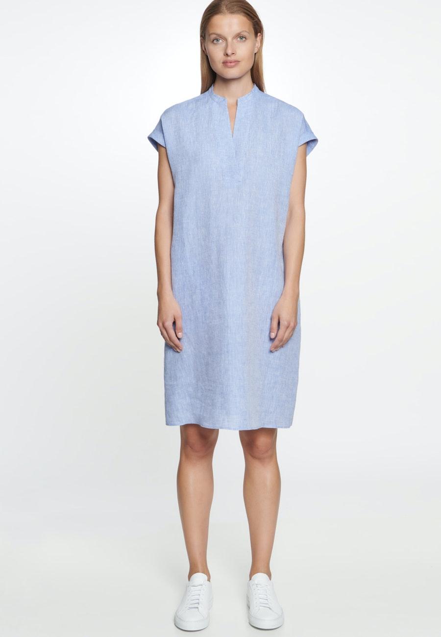 Ärmelloses Leinen Midi Kleid aus 100% Leinen in Mittelblau |  Seidensticker Onlineshop
