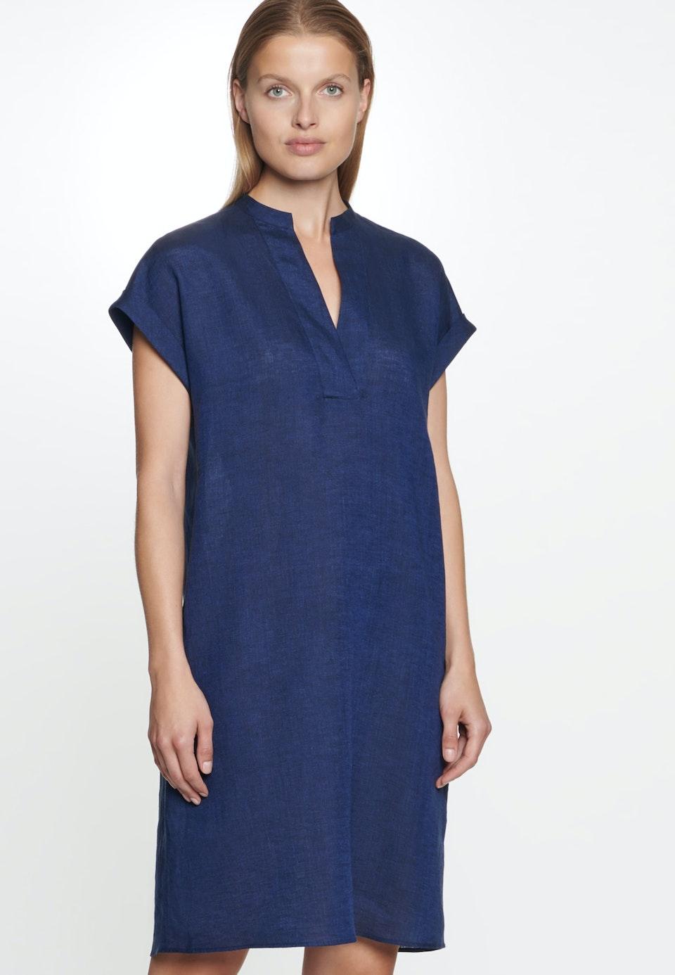 Sleeveless Leinen Midi Dress made of 100% Linen in Dark blue |  Seidensticker Onlineshop