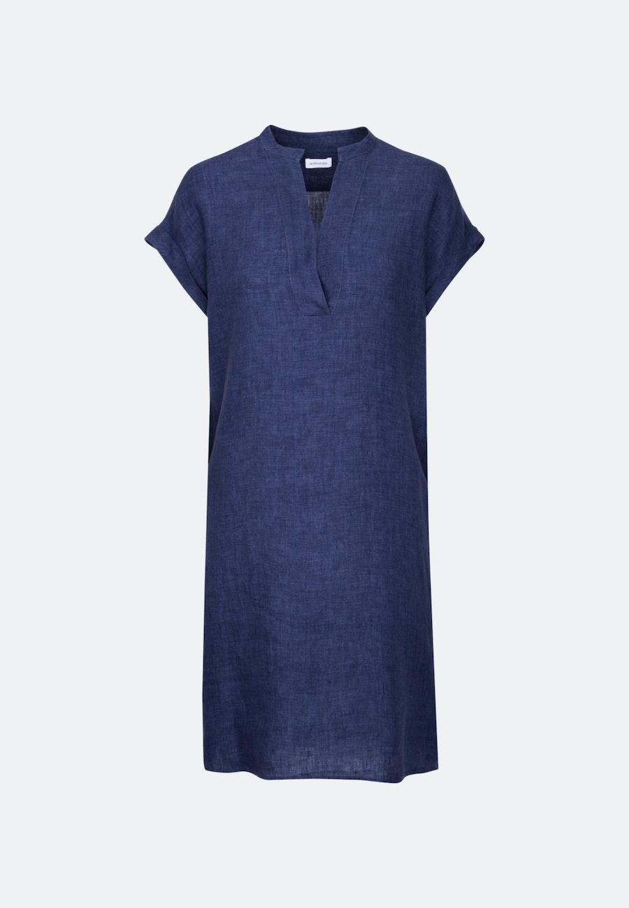Ärmelloses Leinen Midi Kleid aus 100% Leinen in Dunkelblau |  Seidensticker Onlineshop