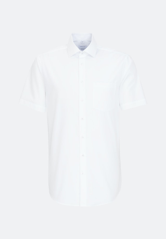 Non-iron Poplin Short sleeve Business Shirt in Regular with Kent-Collar in White |  Seidensticker Onlineshop