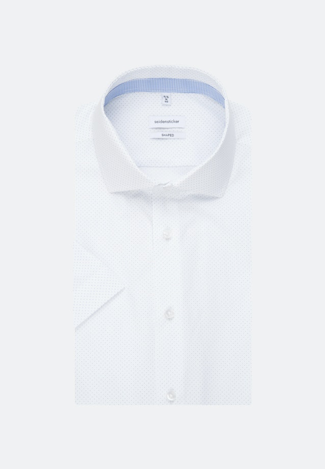 Easy-iron Popeline Short sleeve Business Shirt in Shaped with Kent-Collar in White    Seidensticker Onlineshop