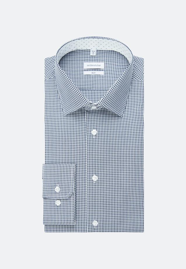 Non-iron Popeline Business Shirt in Slim with Kent-Collar in Dark blue |  Seidensticker Onlineshop