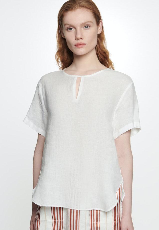 Short sleeve Leinen Shirt Blouse made of 100% Linen in Ecru |  Seidensticker Onlineshop