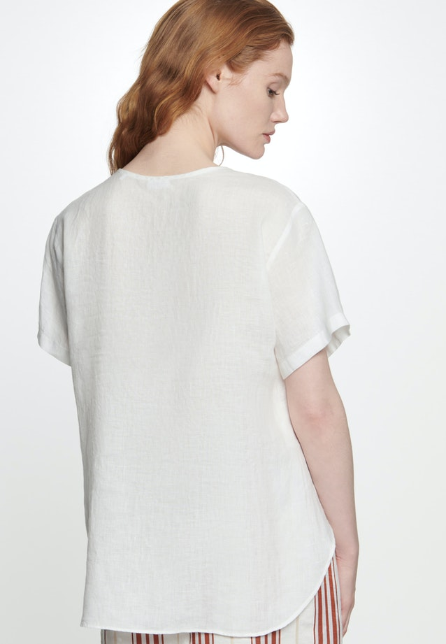 Short sleeve Linen Shirt Blouse made of 100% Linen in Ecru |  Seidensticker Onlineshop