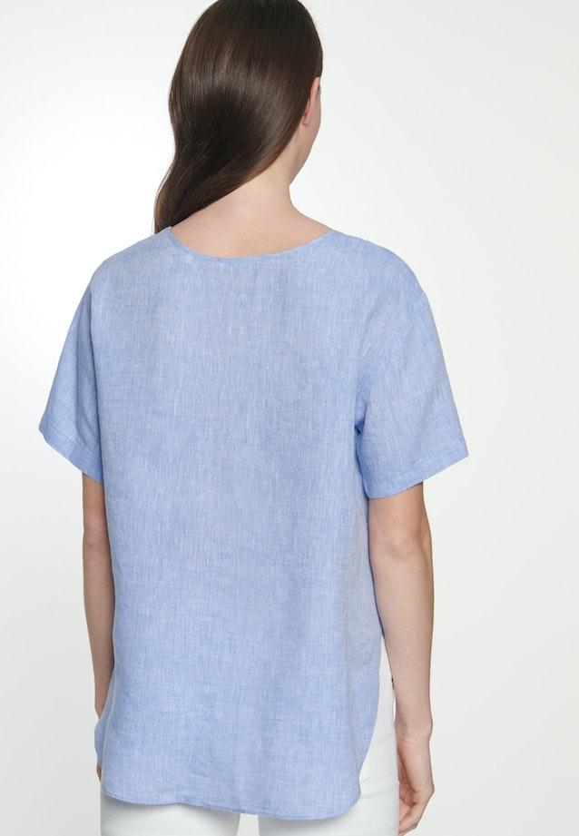 Short sleeve Leinen Shirt Blouse made of 100% Linen in Medium blue |  Seidensticker Onlineshop