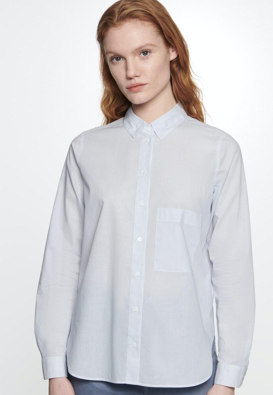 Voile Shirt Blouse made of 100% Cotton in Light blue |  Seidensticker Onlineshop
